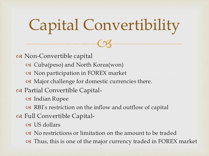 Capital account convertability