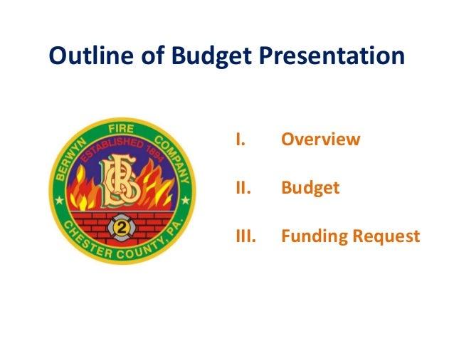 Berwyn Fire Company -  2015 Budget Presentations Slide 2
