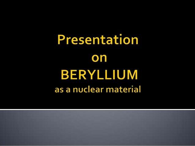 Beryllium (chemical element) - Images | Britannica.com
