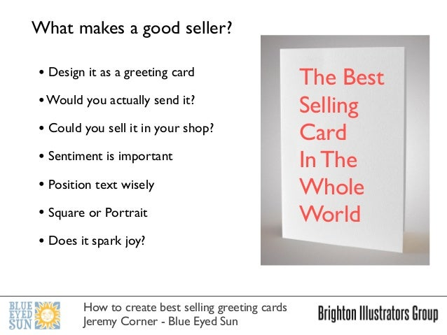 How to create best selling greeting cards for How to make and sell
