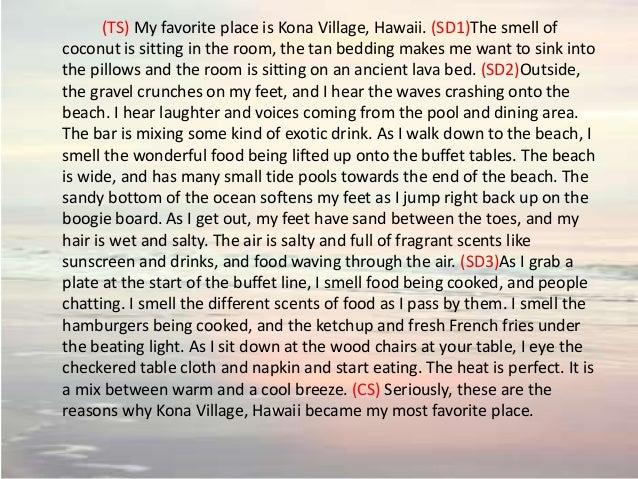 descriptive essay about my favorite place