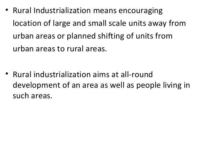 Rural Industrialisation