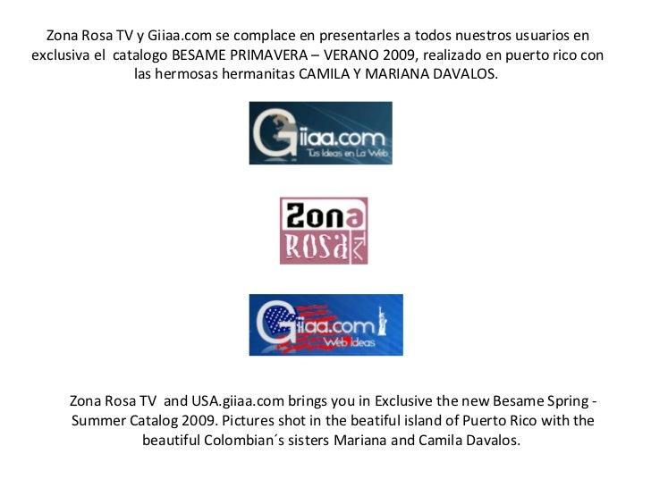 Zona Rosa TV y Giiaa.com se complace en presentarles a todos nuestros usuarios en exclusiva el  catalogo BESAME PRIMAVERA ...