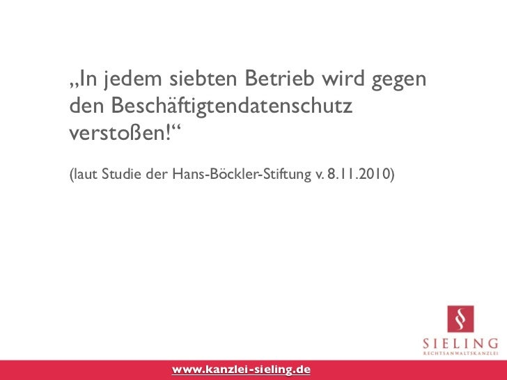 """""""In jedem siebten Betrieb wird gegenden Beschäftigtendatenschutzverstoßen!""""(laut Studie der Hans-Böckler-Stiftung v. 8.11...."""