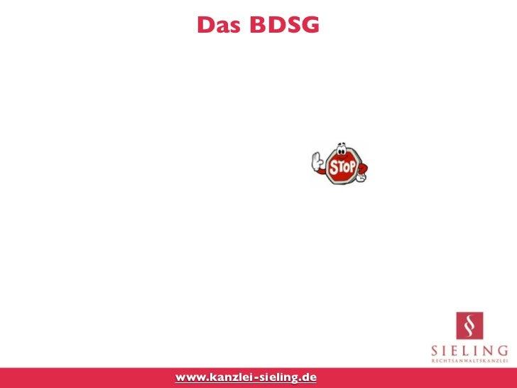 Das BDSGwww.kanzlei-sieling.de