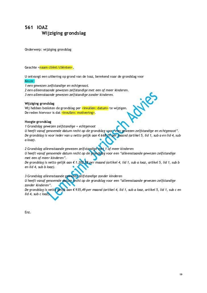 voorbeeldbrief wijziging rekeningnummer Beschikkingen WWB 2012 IOAW IOAZ WKKP GPK WMO voorbeeldbrief wijziging rekeningnummer