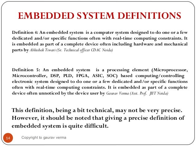 Introduction To Embedded Systems And Its Applications
