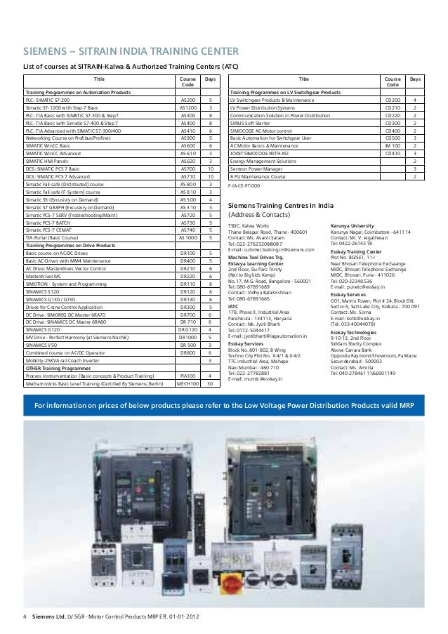 Be siemens price list 03 02-2012