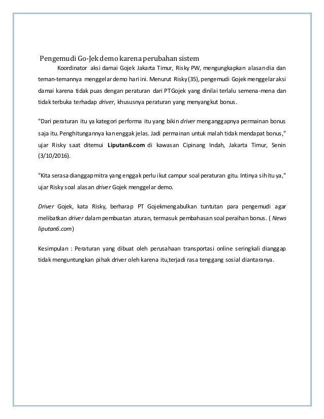 PengemudiGo-Jek demo karenaperubahan sistem Koordinator aksi damai Gojek Jakarta Timur, Risky PW, mengungkapkan alasan dia...