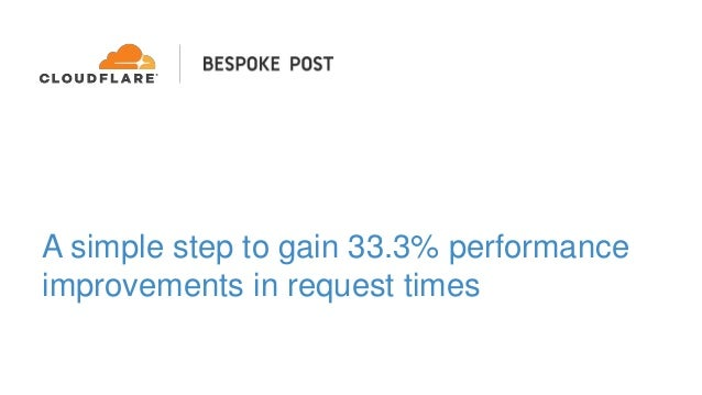 A simple step to gain 33.3% performance improvements in request times