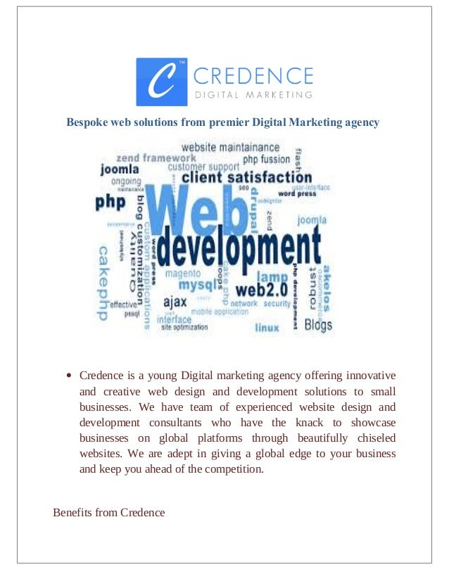 Bespoke web solutions from premier Digital Marketing agency • Credence is a young Digital marketing agency offering innova...