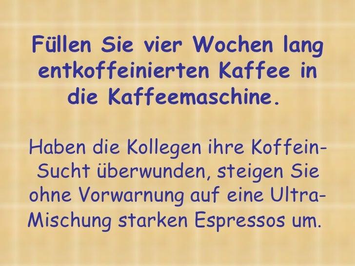 besseren miteinander ~ Kaffeemaschine Desinfizieren