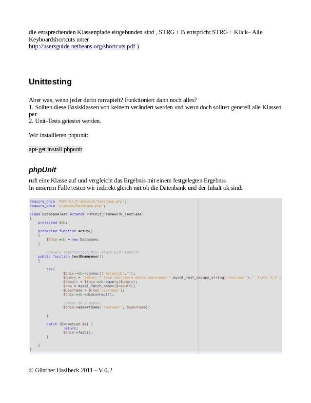 die entsprechenden Klassenpfade eingebunden sind , STRG + B entspricht STRG + Klick– AlleKeyboardshortcuts unterhttp://use...