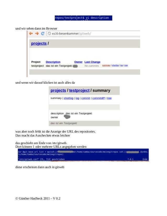 und wir sehen dann im Browserund wenn wir darauf klicken ist auch alles dawas aber noch fehlt ist die Anzeige der URL des ...