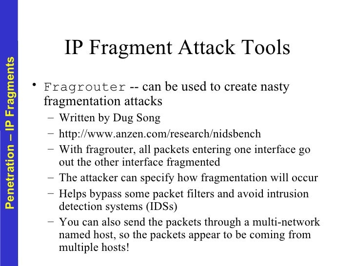 IP fragmentation attack