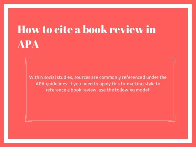 How To Cite A Book Summary Apa Style Image Collections