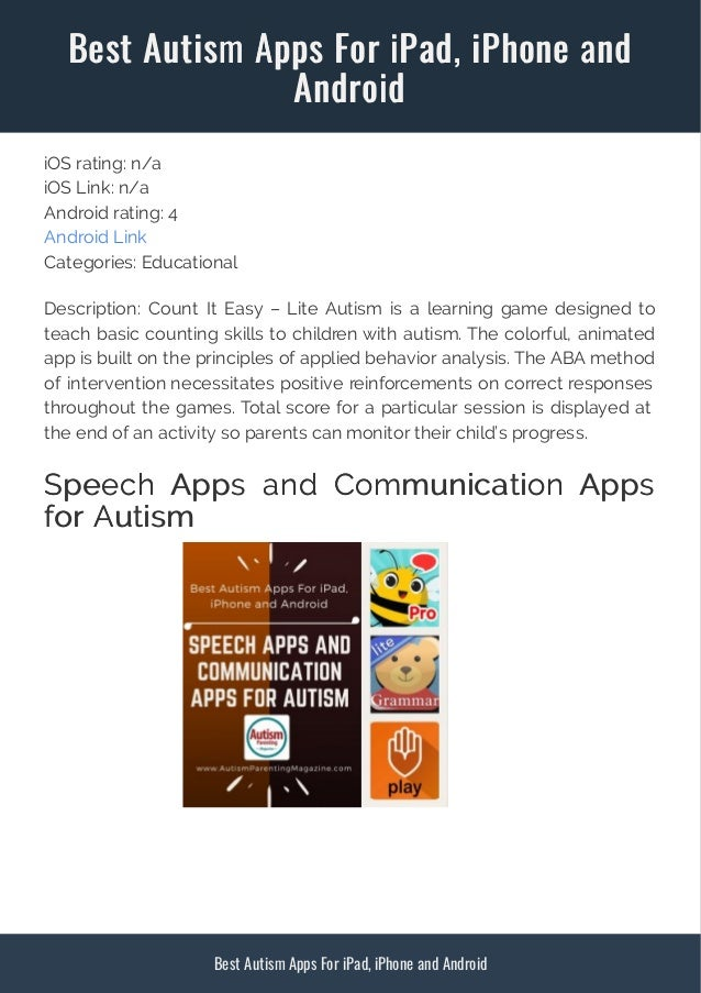 Best Rated Apps For Autism And Applied >> Best Apps For Kids With Autism