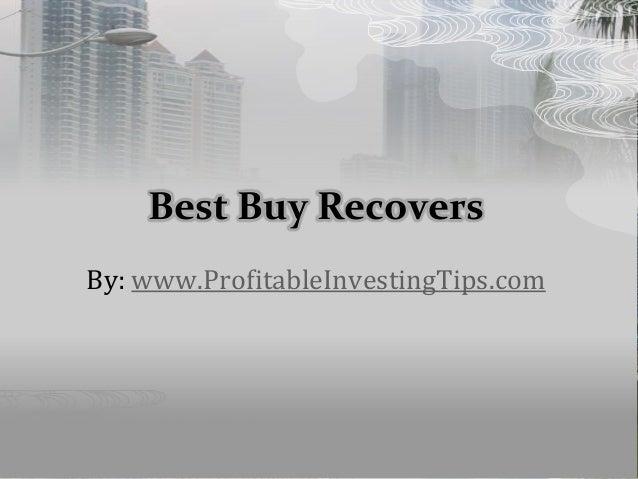 Best Buy Recovers By: www.ProfitableInvestingTips.com