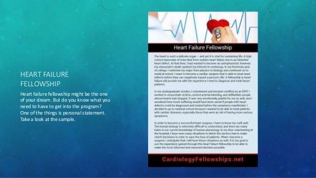 Best cardiology fellowship samples