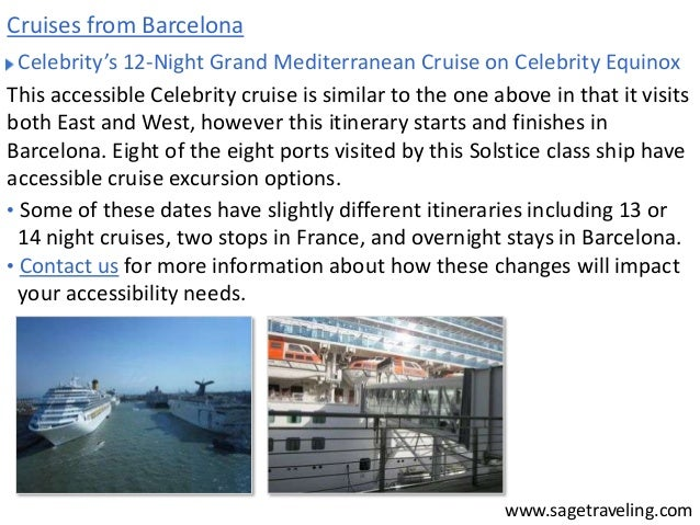 Celebrity Mediterranean BCN-BCN 12 Night - Cruise Critic