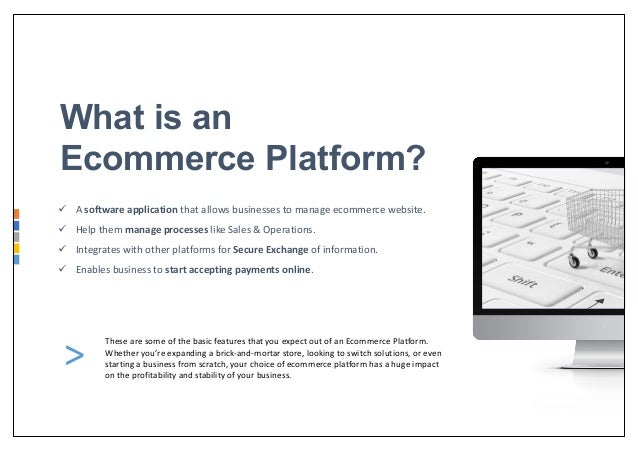 Best Ecommerce Platform of 2018