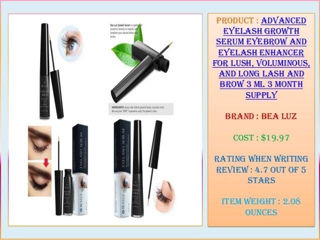 07b0b2e2b92 2. Product : Advanced Eyelash Growth Serum Eyebrow and Eyelash Enhancer For  Lush ...