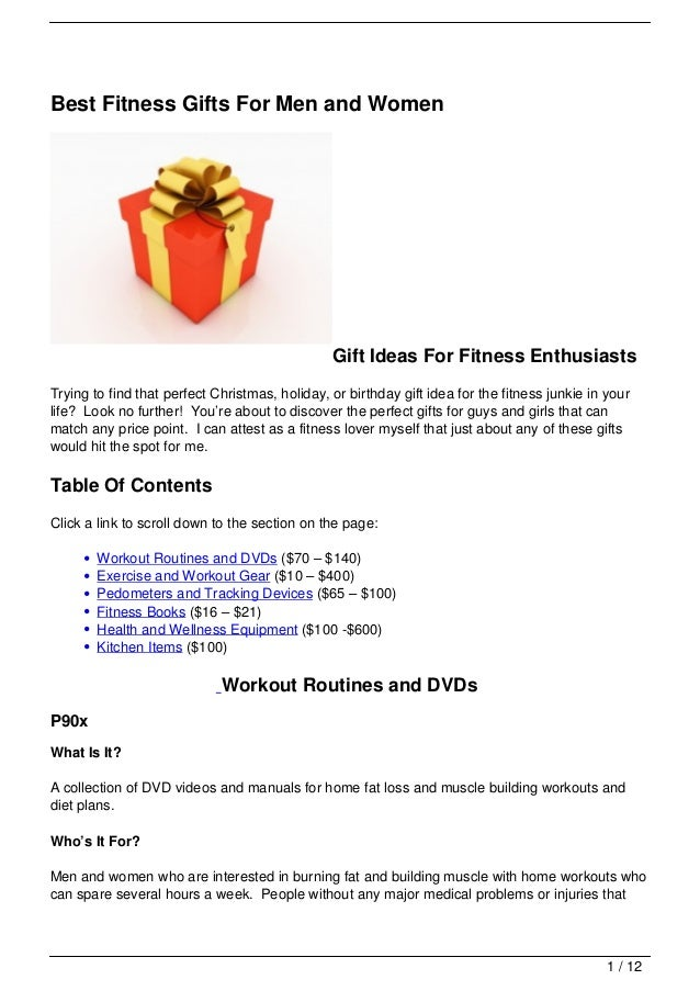 Best Fitness Gifts For Men And Women Gift Ideas