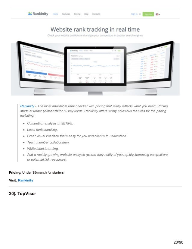 Rankinity - The most affordable rank checker with pricing that really reflects what you need. Pricing starts at under $5/m...