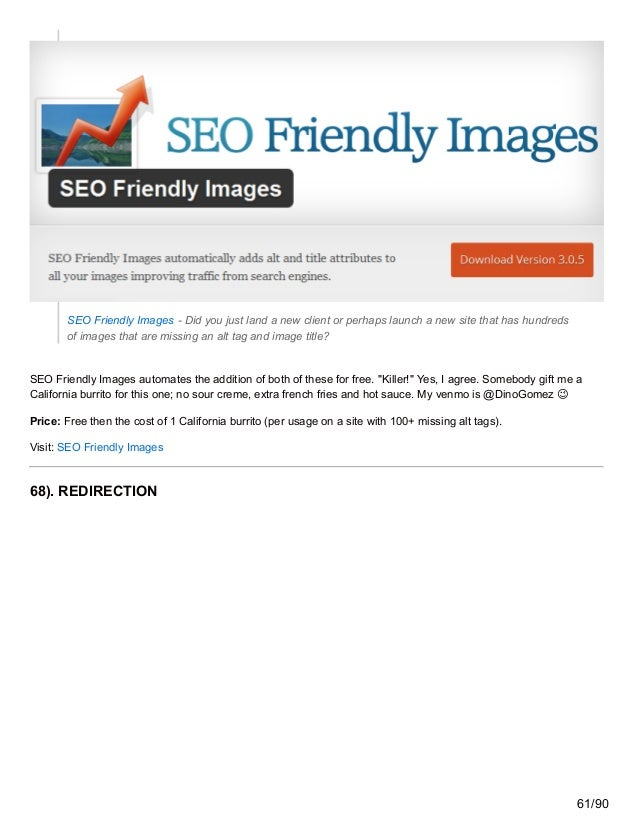SEO Friendly Images - Did you just land a new client or perhaps launch a new site that has hundreds of images that are mis...
