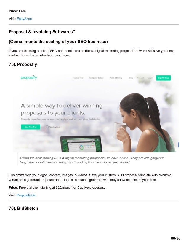 """Price: Free Visit: EasyAzon Proposal & Invoicing Softwares"""" (Compliments the scaling of your SEO business) If you are focu..."""