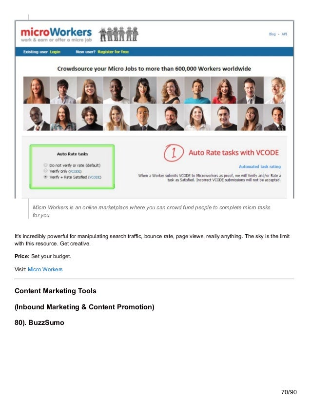 Micro Workers is an online marketplace where you can crowd fund people to complete micro tasks for you. It's incredibly po...