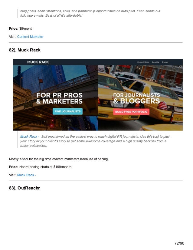 blog posts, social mentions, links, and partnership opportunities on auto pilot. Even sends out followup emails. Best of a...