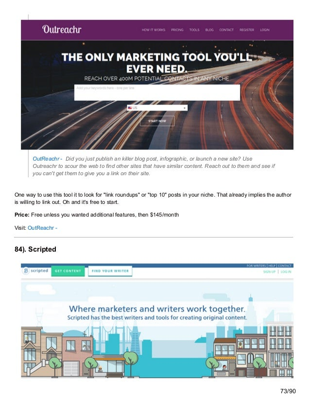 OutReachr - Did you just publish an killer blog post, infographic, or launch a new site? Use Outreachr to scour the web to...