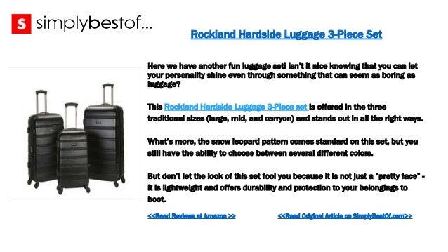 36 rockland hardside luggage