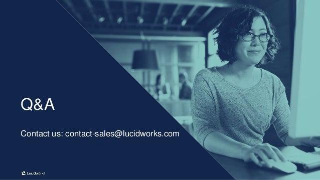 18 Q&A Contact us: contact-sales@lucidworks.com