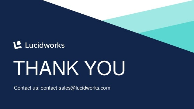 19 THANK YOU Contact us: contact-sales@lucidworks.com