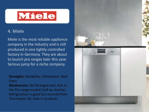 9 4 Miele Miele Is The Most Reliable Appliance