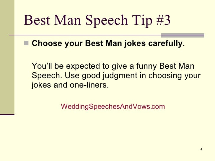 Best Man Speech Tips
