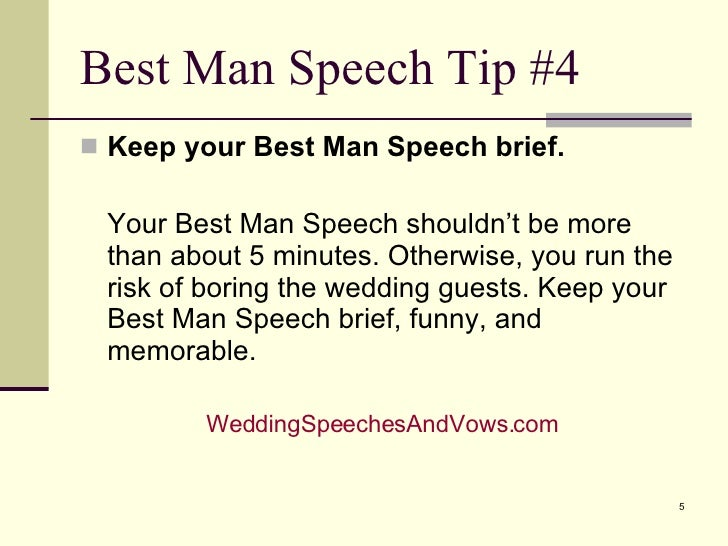 funny 5 minute speeches
