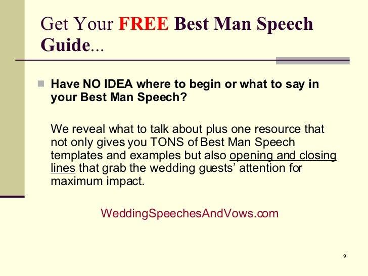 how to begin a best man speech