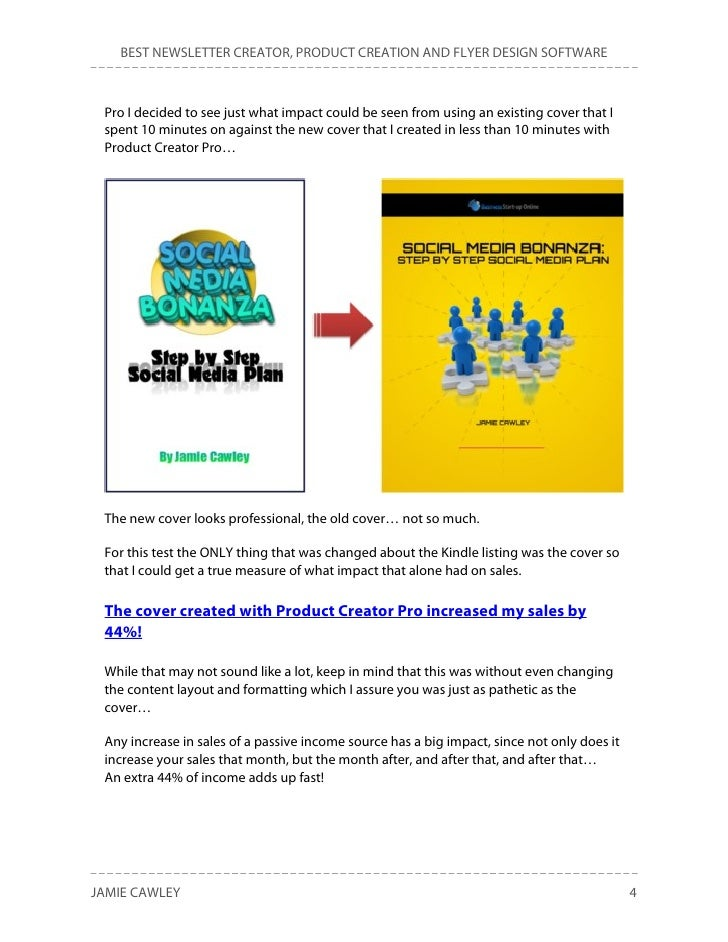 Kindle Book Cover Design Software : Best newsletter creator product creation and flyer design