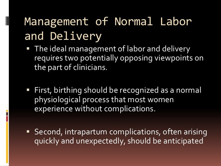 Normal Labor & Delivery