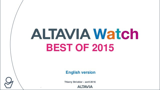BEST OF 2015 Thierry Strickler – avril 2016 English version