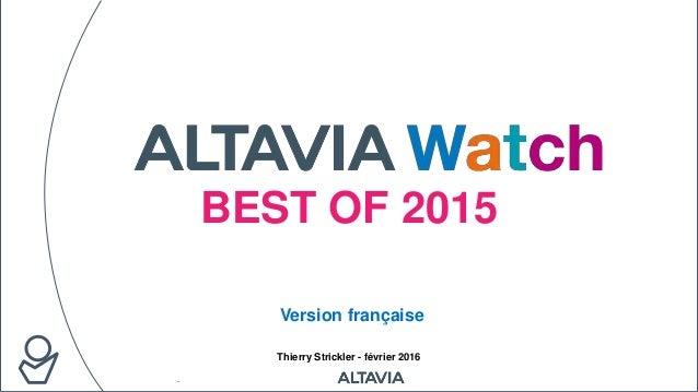 BEST OF 2015 Thierry Strickler - février 2016 Version française