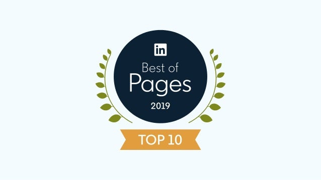 Celebrating the top 10 LinkedIn Pages of 2019 We're excited to celebrate these exemplary Pages and share what they did exc...