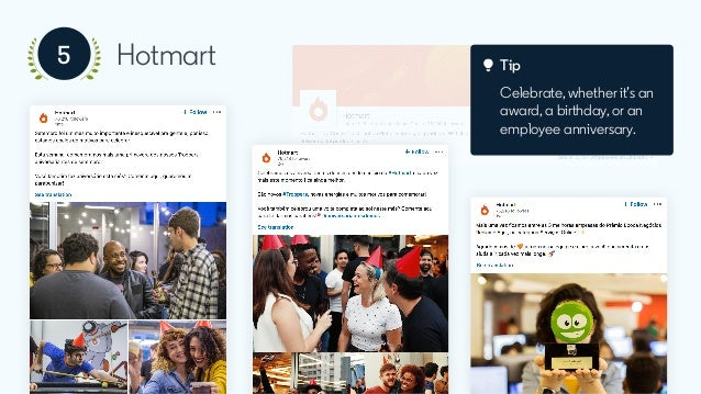 Tip Reshare posts mentioning the company, to keep the conversation going.