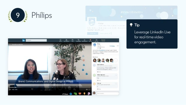 Tip Ask engaging questions to inspire comments and likes, like the #PhilipsTranslates short video series.