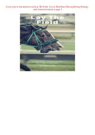Horse betting system pdf sport betting terms defined