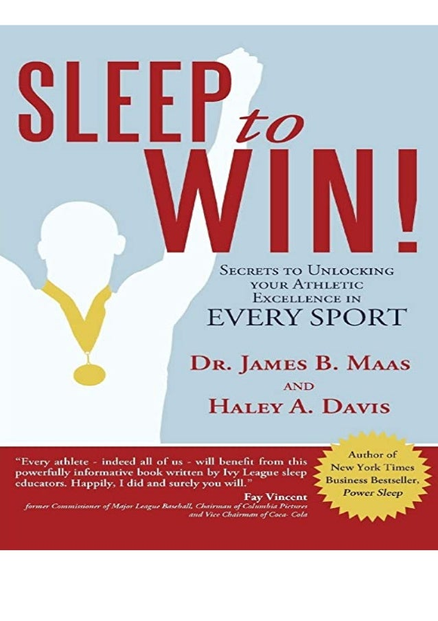 BEST PDF Sleep to Win!: Secrets to Unlocking your Athletic Excellence in Every Sport Ipad