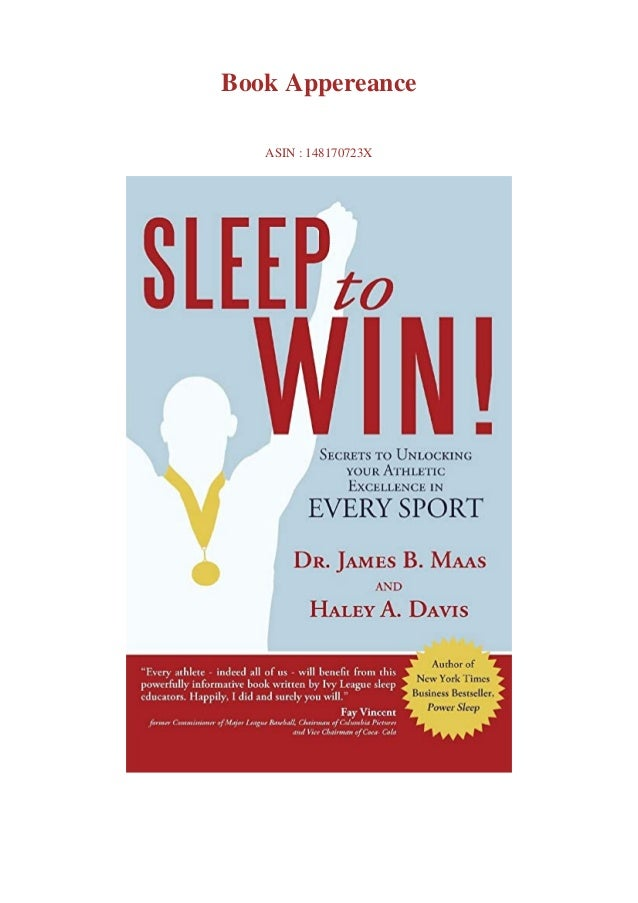 Download pdf or read Sleep to Win!: Secrets to Unlocking your Athletic Excellence in Every Sport by click link below Downl...